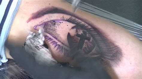 eye of the believer tattoo time lapse youtube