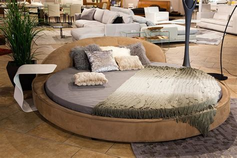 round leather bed 21 rounded bed designs decorating ideas design trends