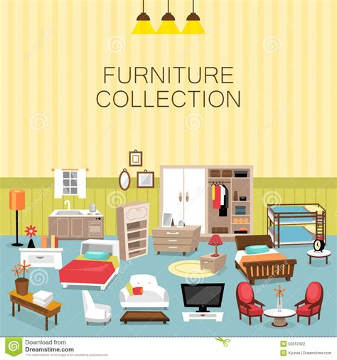 home interior vector 2018 design element and furniture collection for home interior stock vector image 55512422