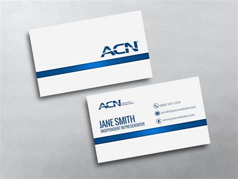 Acn Template Business Cards by White Acn Business Card Design For Acn Independent Reps