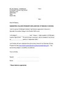 Sponsor Declaration Letter Letter Format 187 Declaration Letter Format Cover Letter And Resume Sles