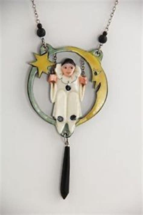 Pierette Top Grey antique german deco pierrot porcelain figurine