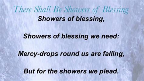 Showers Of Blessing by There Shall Be Showers Of Blessing Baptist Hymnal 467
