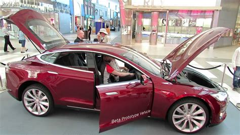 Tessler Auto by 2013 Tesla Model S Electric Car Interior And Exterior