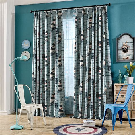 blue curtains for boys bedroom blue long cool nautical curtains for boys bedroom