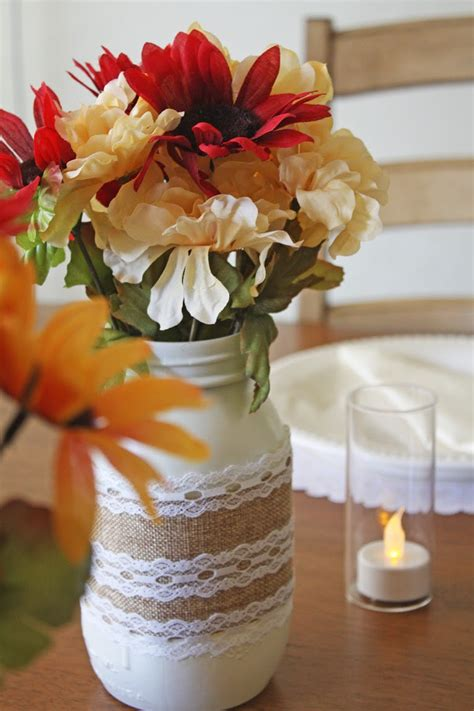 jar and burlap centerpieces burlap and lace jar centerpieces catch my