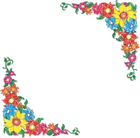 fiori school free vector graphic border flowers floral design