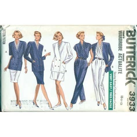 Pattern Shirt With Blazer | vintage womens wardrobe sewing pattern skirt jacket