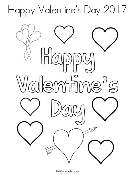 Happy Valentine S Day 2017 Coloring Page Twisty Noodle Happy Valentines Day Coloring Pages