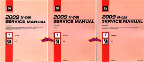 car repair manuals online pdf 2009 pontiac solstice engine control shop manual solstice sky service repair book 2009 pontiac saturn gxp redline ebay