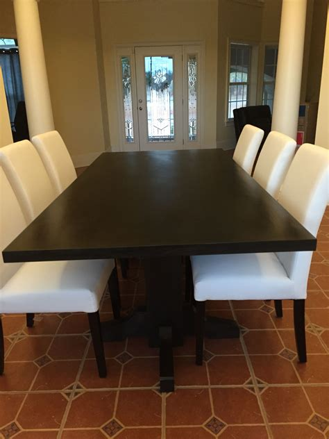 Solid Wood Dining Room Table hand made black walnut dining table extra dark espresso