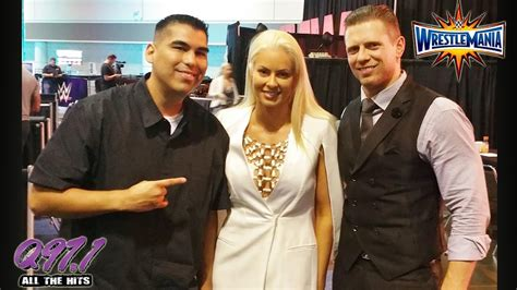 finn balor wrestlemania 31 weekend interview youtube q97 1 s danny salas interviews the miz maryse during