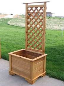 how to build a planter box with trellis planter box trellis garden ideas