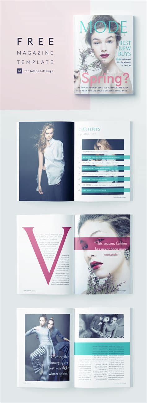 magazine layout templates free download beautiful fashion magazine template for indesign free