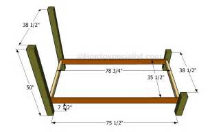 Wood Bed Frame Dimensions Size Bed Frame Plans Howtospecialist How To Build