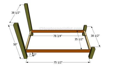 twin bed frame dimensions twin size bed frame plans howtospecialist how to build