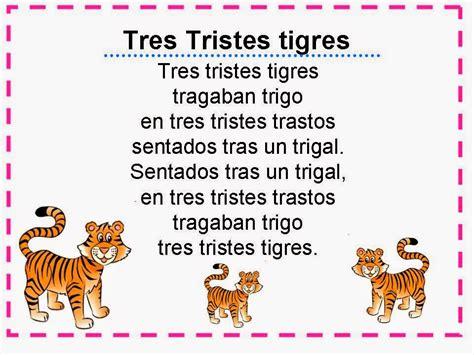 imagenes de tres tristes tigres sin perder ni un segundo trabalenguas