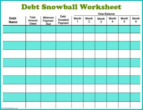 debt payoff planner beautiful spreadsheet for using snowball method