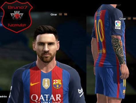 messi tattoo in pes 2016 lionel messi face 16 17 barcelona pes 2013 patch pes