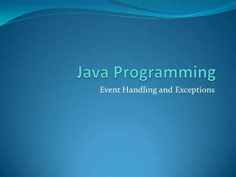 java swing event handling java programming event handling