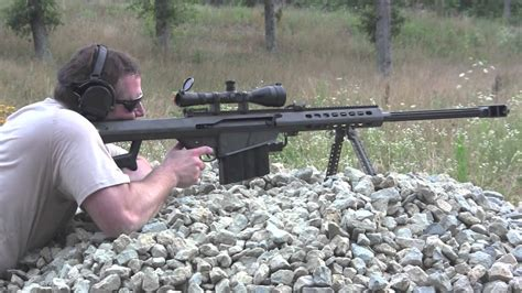 snipe bid barrett 50 caliber sniper rifle shooting in hd