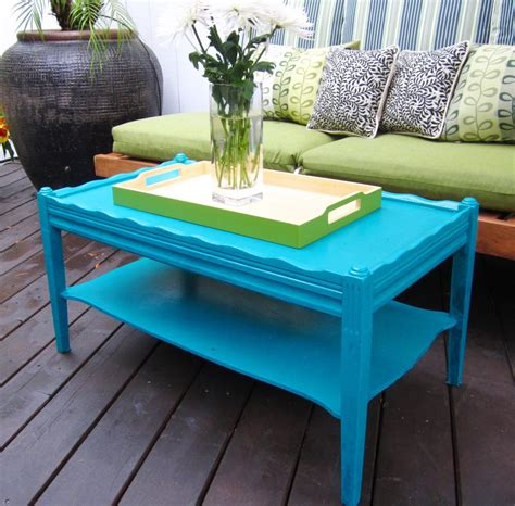 Blue Coffee Table With Tray Blue Coffee Table