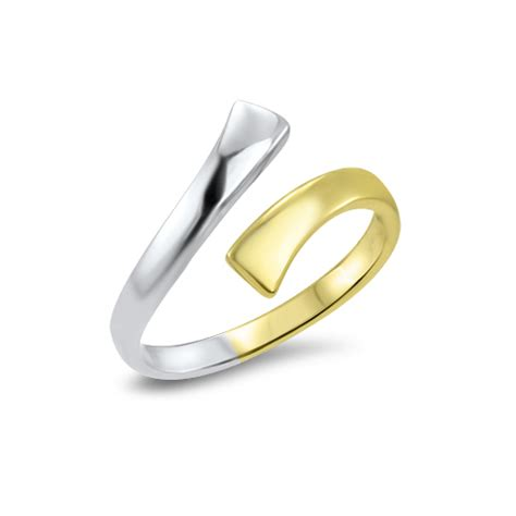 10k white and yellow gold toe ring nose rings