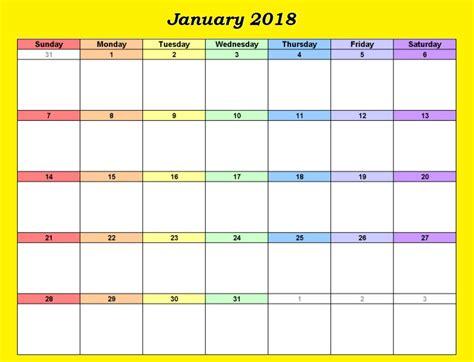 2018 editable calendar templates editable calendar january 2018 calendar 2018
