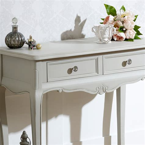 modern shabby chic console tables french bedroom company grey wooden ornate console dressing table shabby french