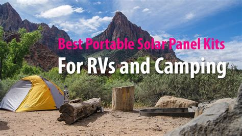 best portable solar panel best portable solar panel kits for rvs and cing