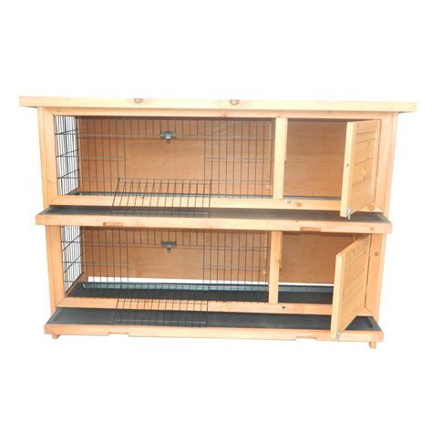 Wooden Rabbit Hutch pawhut 2 story stacked wooden outdoor bunny rabbit hutch guinea pig wood cage ebay