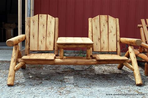 Cedar Log Patio Furniture by Custom Woodworking Usa