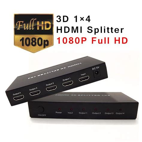 4 In 1 Out hdmi splitter 2 in 4 out hdmi switch splitter hdmi