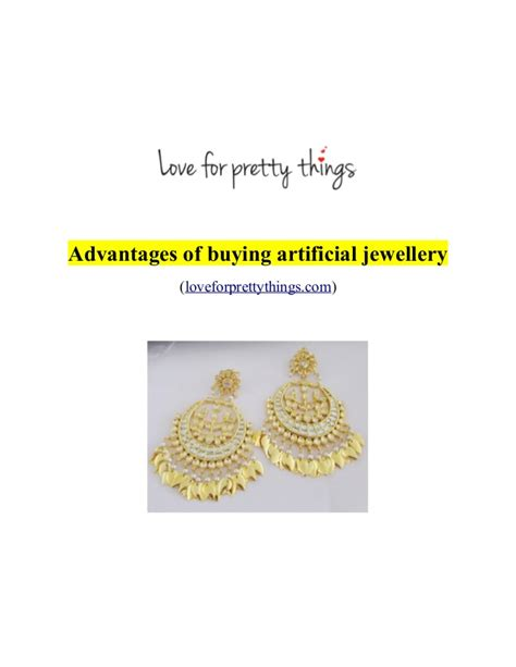 advantages of buying artificial jewellery