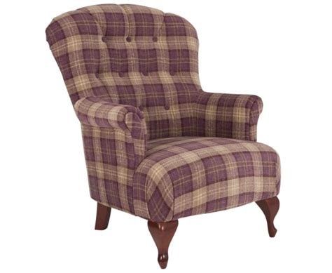 Fireside Armchairs by Oban Aubergine Tartan Fireside Armchair Uk Delivery