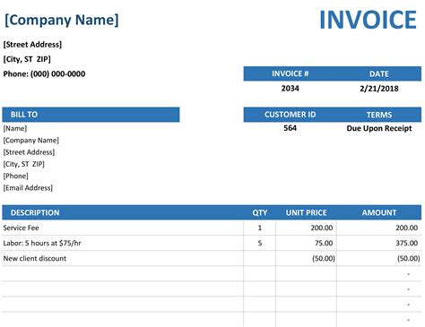 Invoice Simple Invoice Template