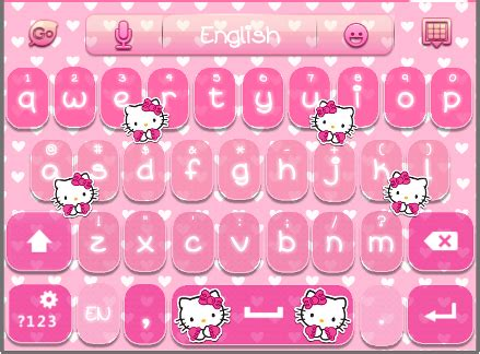 go keyboard themes sms hello kitty go sms theme download theme hello kitty go