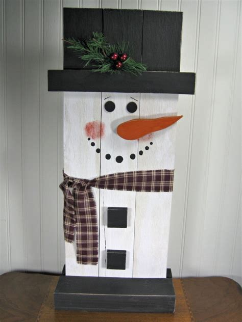 stand  wooden snowman christmas decoration christmas