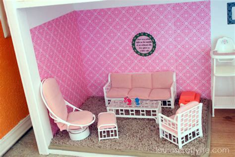 barbie living room set modern house diy barbie house laura s crafty life