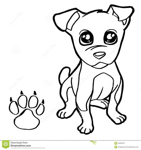 coloring pages vector with paw print coloring pages vector stock vector
