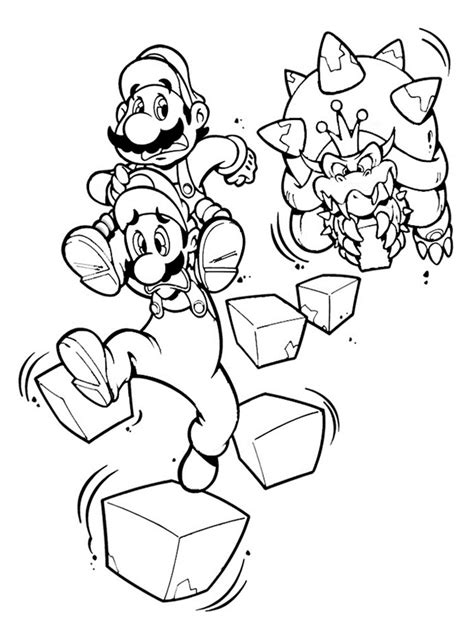 mario coloring mario bowser coloring pages free printable mario bowser