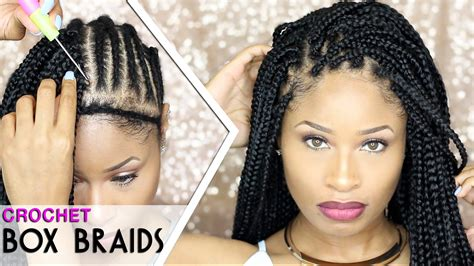 crotchet braids and leaving some of your hair out how to crochet box braids looks like the real thing