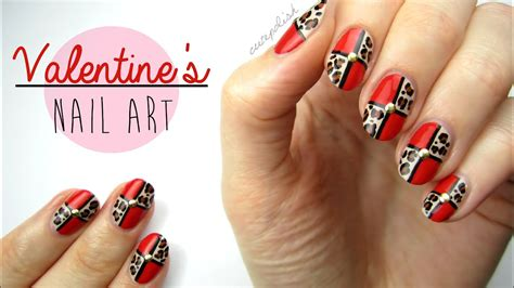 nail art  valentines day leopard blocking youtube