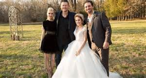 Raelynn posted a photo with blake and gwen from her wedding image
