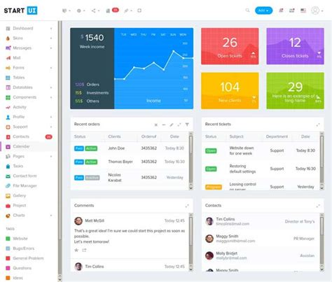 redial bootstrap 4 admin dashboard template by 45 best responsive admin dashboard templates 2017 designmaz