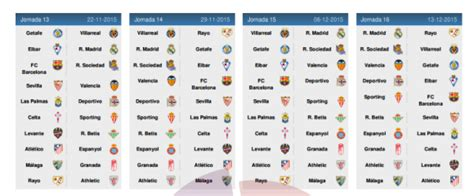 Calendrier Liga Bbva Real Madrid Le Calendrier De La Liga Bbva 2015 2016