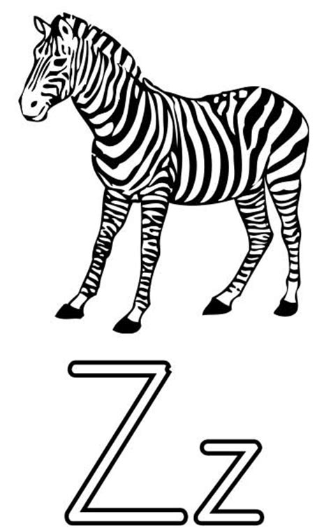 Z Zebra Coloring Page by The Letter Z Coloring Page For Free Printable Picture