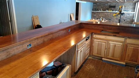 bar top polyurethane how to build wood countertops
