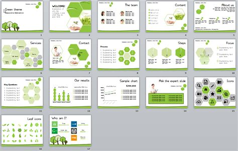 Green Theme Template User Friendly Theme Template