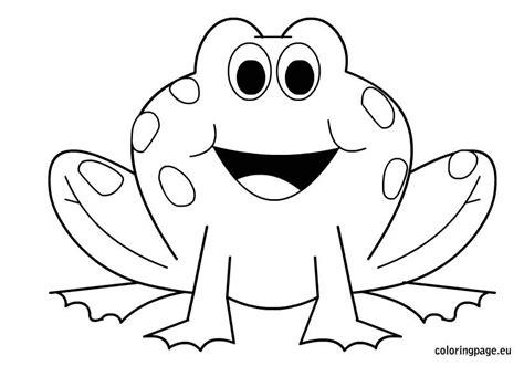 happy frog coloring page крупные раскраски для детей